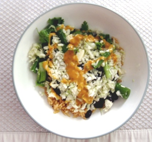 Cabbage and black bean salad