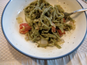 Pesto Linguini and Vegetables