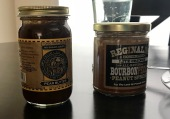Pear Butter and Pecan-Bourban-Peanut Butter jars