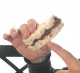 Rice cake sandwich